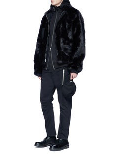 Den Im By Siki Im Faux fur reversible coach jacket