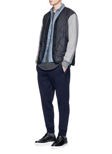 rag & bone Contrast sleeve quilted bomber jacket
