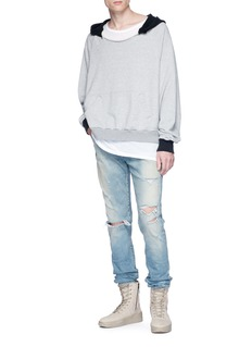 Yeezy Frayed collar hoodie