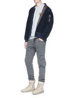 Yeezy 'Calabasas' print shield patch oversized sweatshirt