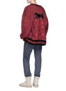 Yeezy 'Lost Hills' appliqué oversized cardigan