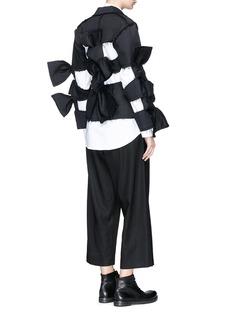 ROBERTS | WOOD Sash bow cutout padded twill jacket