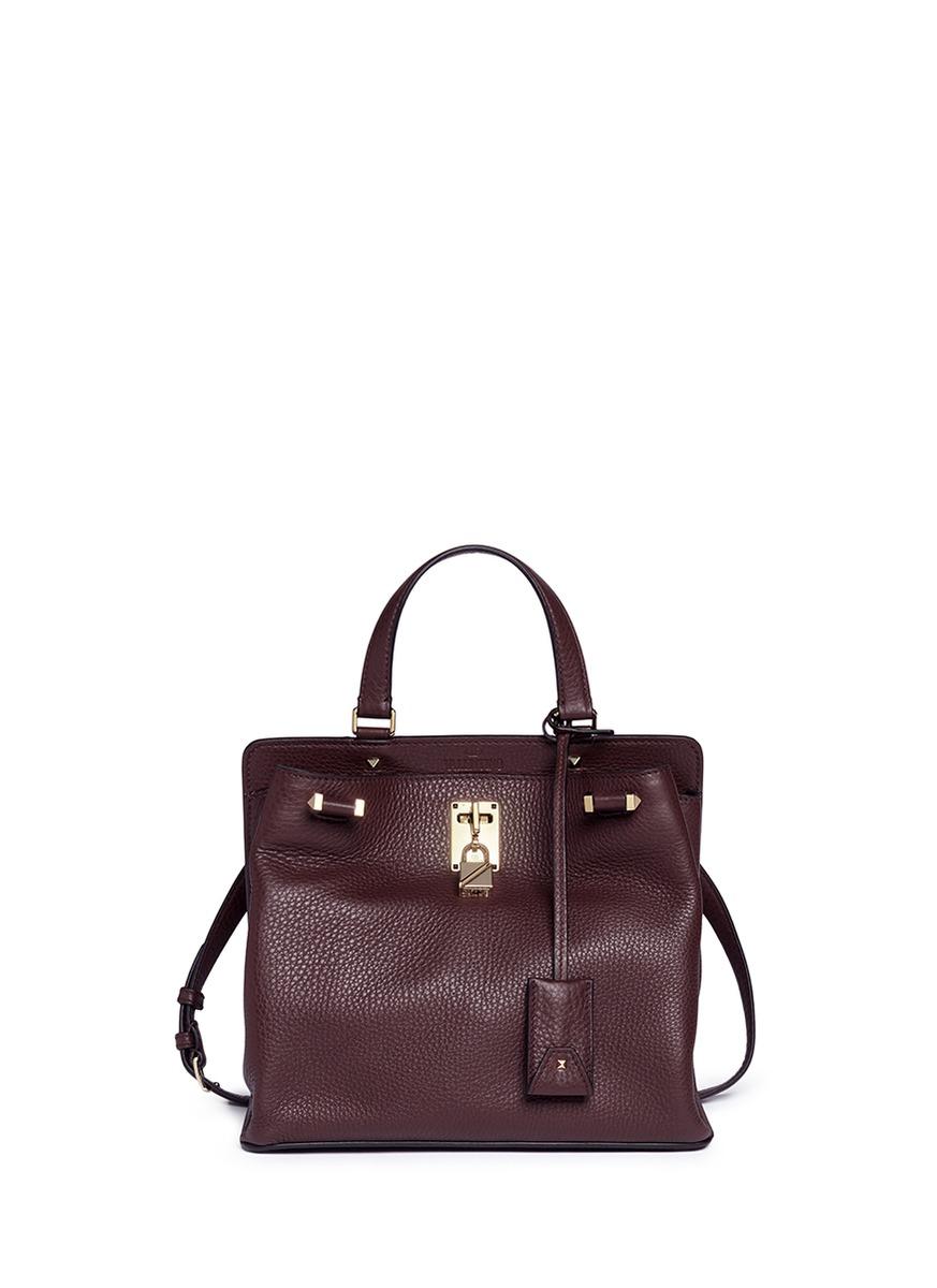 'Joylock' medium leather shoulder bag
