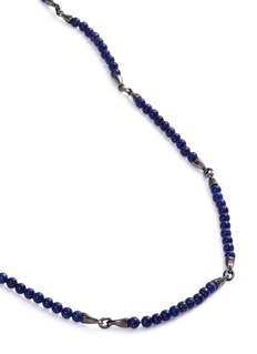 Stephen Webster 'Thorn' lapis bead rhodium silver necklace
