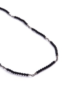 Stephen Webster 'Thorn' onyx bead rhodium silver necklace