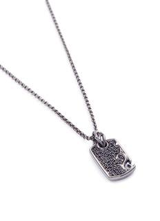 Stephen Webster 'Thorn' sapphire rhodium silver pendant necklace