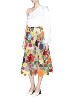 Rosie Assoulin 'Hodges Podges' floral patch silk organza skirt