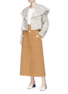 Rosie Assoulin 'October' textured tweed cropped double breasted jacket