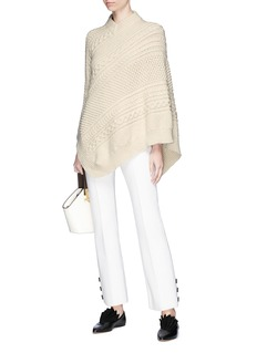 Rosie Assoulin 'Grandma Elanor's Blanket' asymmetric cable knit poncho