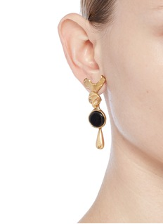 Valentino Resin disc drop earrings
