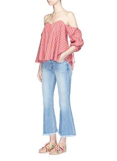 Caroline Constas'Gabriella' stripe poplin off-shoulder bustier top