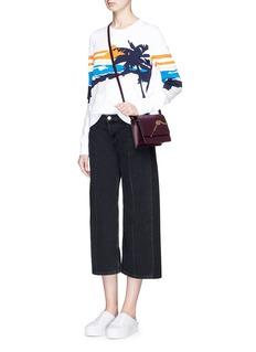 Sophie Hulme'Cocktail Stirrer' small saddle leather bag
