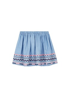 Seed Heritage  x The Webster folk embroidered kids skirt