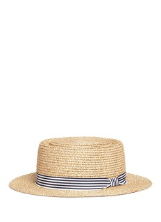 Seed Heritage  x The Webster stripe ribbon kids boater hat
