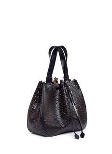 Alaïa 'New Vienne' large lasercut leather bucket bag