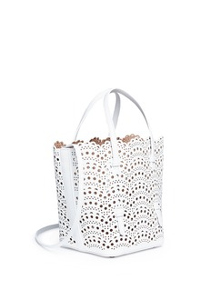 Alaïa 'Vienne Vague' mini lasercut leather bucket tote