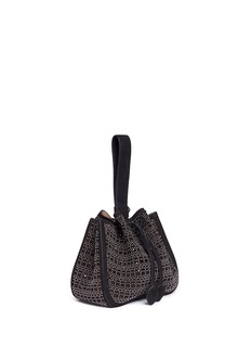 Alaïa 'Mini Vienne' dome stud lasercut suede bucket bag