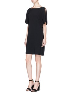 Theory 'Andzelika' split sleeve crepe dress