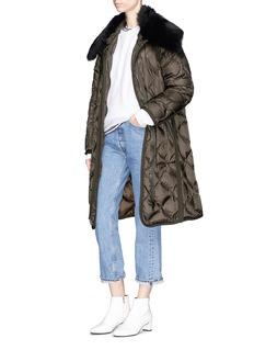 Moncler 'Ceanothu' lamb fur collar down puffer jacket