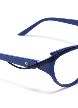 Detail View - Click To Enlarge - Dior - Curve brow bar cat eye optical glasses
