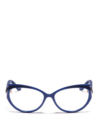 Main View - Click To Enlarge - Dior - Curve brow bar cat eye optical glasses