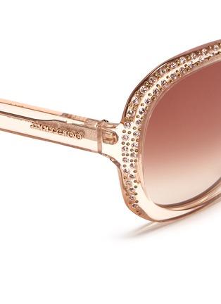 Detail View - Click To Enlarge - Jimmy Choo - 'Lu' crystal rim sunglasses