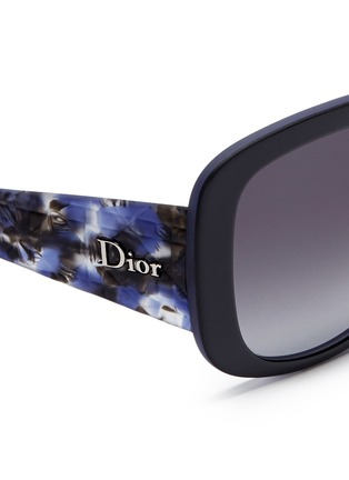 Detail View - Click To Enlarge - Dior - 'Dior Lady Lady 1' deco temple acetate sunglasses