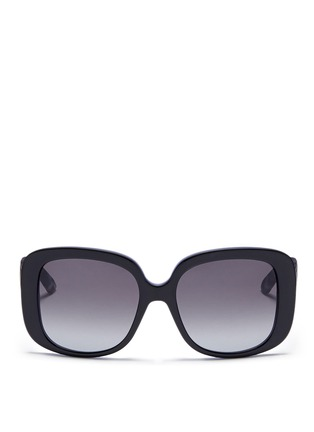 Main View - Click To Enlarge - Dior - 'Dior Lady Lady 1' deco temple acetate sunglasses