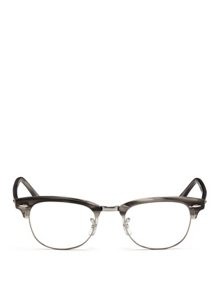 Main View - Click To Enlarge - Ray-Ban - 'Clubmaster' acetate browline optical glasses