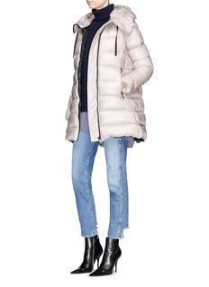 Moncler 'Suyen' hooded long down puffer parka