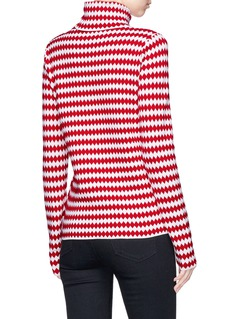Moncler Zigzag intarsia turtleneck sweater