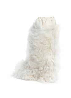 Moncler Lamb fur mid calf boots