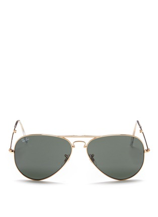 Main View - Click To Enlarge - Ray-Ban - 'Aviator Folding' wire sunglasses
