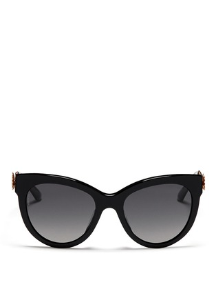 Main View - Click To Enlarge - Dolce & Gabbana - Metal lace cat eye sunglasses