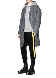 Neil Barrett Pressed virgin wool blend felt oversized coat