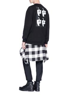 NEIL BARRETT 抽象人脸布饰纯棉卫衣
