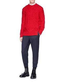 Neil Barrett Textured wool sweater