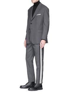 Neil Barrett Stripe outseam jogging pants