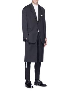 Neil Barrett Layered twill coat