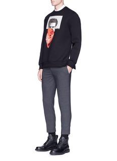 NEIL BARRETT 方巾绅士图案太空棉卫衣