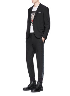 Neil Barrett Paisley print outseam slim fit jogging pants