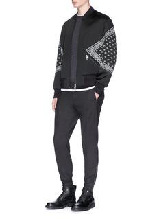 Neil Barrett 'Modernist' paisley panel bomber jacket