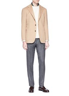 Ring Jacket Brushed wool slim fit pants