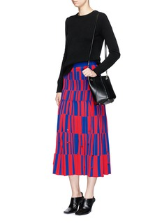 Proenza Schouler Block jacquard pleated skirt