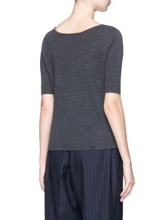 CRUSH Collection Cashmere double face knit short sleeve sweater