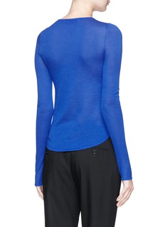 CRUSH Collection Curved hem cashmere sweater