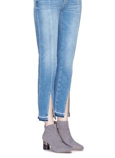 Nicholas Kirkwood 'Zaha' cylindrical heel suede ankle boots