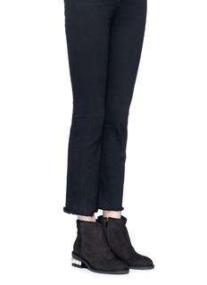 Nicholas Kirkwood 'Casati' faux pearl heel suede ankle boots