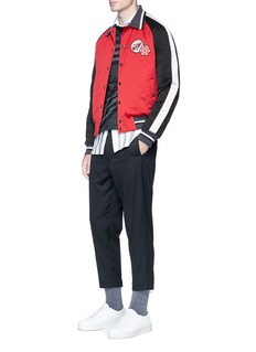 Lanvin Assorted appliqué satin souvenir jacket
