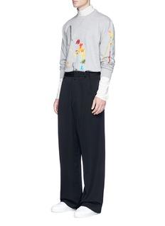 Lanvin x Cédric Rivrain palette print sweatshirt